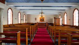 Church inside at Mödruvellir, Northern Iceland
