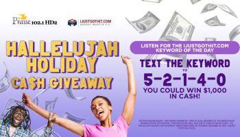 Hallelujah Holiday Cash Giveaway
